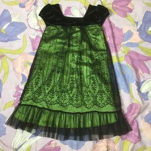 Like New Joná Michelle formal DressBlack/ Green